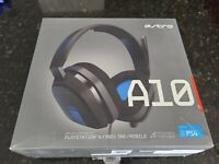 (HEAVY USAGE) ASTRO A10 Wired Gaming Headset w/ Mic for PS4 Gray/Blue (8553)