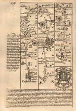 Colchester-Ipswich-Martlesham-Woodbridge-Wickham Market OWEN/BOWEN road map 1753