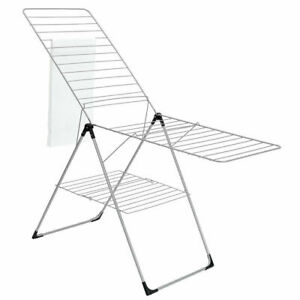BRABANTIA 20 Metre T-Model Laundry Clothes Dryer Airer Rack Hanging Stand Grey