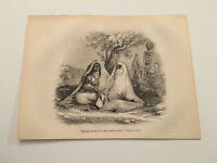 K76) Mourning Women of the East From Vogage En Orient 1845 Engraving