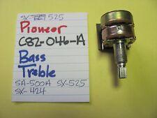 PIONEER C82-046-A BASS TREBLE POT SA-500A AMP SX-424 SX-525 STEREO RECEIVER