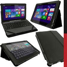 "Nero Custodia Eco-Pelle per Asus Transformer Book T100 T00T T00TA 10.1"" Tablet"