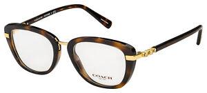 Coach Eyeglasses HC 6106B 5453 50 Tortoise/Gold Frame [50-19-135]