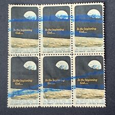 O3/28 US Stamp 1373 6c Block 6 Blue Ink Error? Unused? Used?  NH