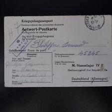 LETTRE PRISONNIER DE GUERRE DINAN -> STALAG IV F KRIEGSGEFANGENENPOST POW