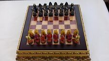 CHESS SET --- STUNNING MEDIEVAL CHESS SET  WITH DRAGON FIGURINES   (216 )