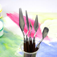 5pcs Color Pigment Palette Knife Set Artist Pallet Knives Spatulas Oil Painting