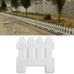 Garden Fence Molds Concrete Cement Lawn Courtyard Mould Plastic Reusable Craft
