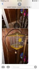 Vintage Well Cared For Metal Bird Cage With A Strong Metal Stand Great Gift