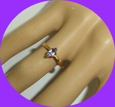 Lovely 14kt Yellow Gold Marquise Tanzanite Women's Ring-- Size 6.25