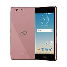 FUJITSU ARROWS M03 SV METAL FRAME SLIM TOUGH ANDROID PHONE UNLOCKED PINK F-03H