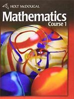 Mcdougal Mathematics Course 1 Student Edition  - by MCDOUGAL