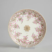 Antique 18c Qianlong Period Famile Rose Chinese Porcelain Dish China Qing  Rare