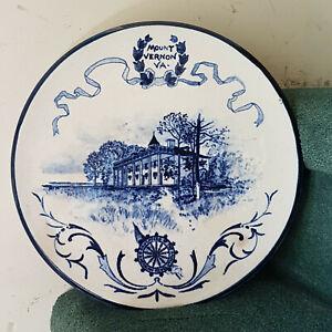 Rare Daughter American Revolution DAR Mount Vernon 1896 Volkmar pottery plate!