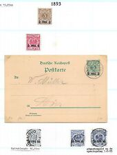 Deutsch Ost Afrika stamps 1893 Collection of 5 stamps + 1 local PC Dar-Es-Salaam