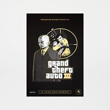 Grand Theft Auto 3 GTA III Kenji Lithograph Poster Art #/500 LE 10th Anniversary