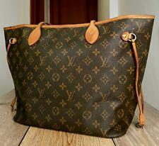 Authentic Louis Vuitton NEVERFULL MM Monogram Canvas Tote Handbag