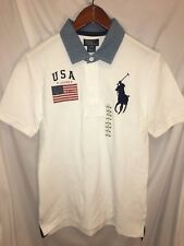 Polo Ralph Lauren Polo Shirt Youth American Flag Large Horse Logo Large 14-16