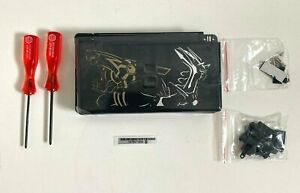 Replacement Housing for Nintendo DS Lite Glass Lens Shell Black Dialga Palkia