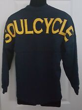 Soul Cycle Navy Blue Long Sleeve with Yellow Spell out on Back Size XS