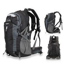 Sport Mens Back Pack Camping Hiking Mens Bag Waterproof Backpacks Outdoor Black