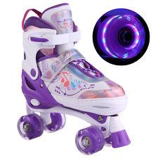 New listing Roller Skates Adjustable Size for Kids/Adult 4 Wheels Children Boys Girls Pink;