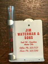 Vintage Jim Waterman & Sons Rain Gauge Fuel Oil-Gasoline-Motor Oils UNUSED