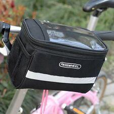 Ciclismo Biciclette Manubrio Bici Anteriore Tubolare Portapacchi Borsa Bike Bag
