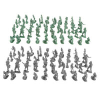 200pcs Mini Plastic Army Men Figures Soldiers Toy for Army Base Playset