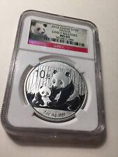 2012 China Panda Silver Coin 10 Yuan NGC MS 69
