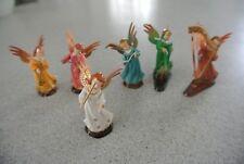 "Vintage 6 Angel Orchestra 2"" Figurines Xmas Christmas Religious"