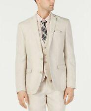 Bar III Men's Slim-Fit Linen Tan Suit Jacket Sport Coat 38R