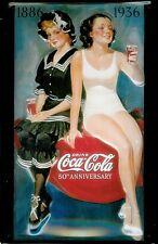 Enseigne Acier Murale Gaufré Coca Cola Bathing Beauties (hi 3020)