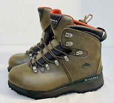 Simms Freestone Men's Boots Leather US Size 12 Vibram Soles Streamtread