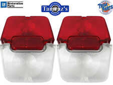 62-64 Chevy II Nova Tail Light Lamp & Back Up Lens w/Gasket  PAIR Trim Parts