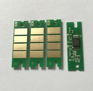 4 x Toner Chip for Ricoh Aficio SP 100e/100SU/100SF SP 112/112SF/112SU  407165