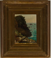 Charles James Parry (1824-1894) - Late 19th Century Oil, An Island Coastline