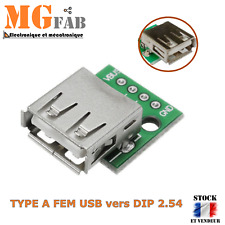 Module Type A femelle USB vers DIP 2.54mm Adaptateur PCB | ARDUINO DIY PIC RPI