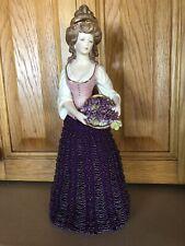 Handmade Porcelain Half Doll With Hand Beaded Skirt- Brand New