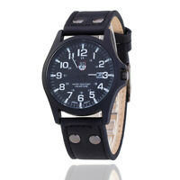 Men Vintage Quartz Watches with Leather Band Fashion for Date Dress Business