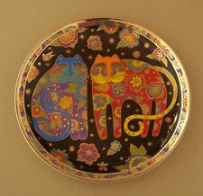 Laurel Burch FLOWERING FELINES Cat Kitten Plate Flowers Whimsical Franklin Mint