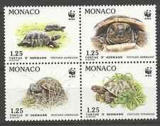 Timbres Reptiles Tortues Monaco 1805/8 ** lot 117