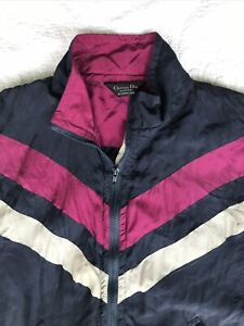 Vintage Christian Dior Monsieur 1990s 100% Silk Jacket Size L