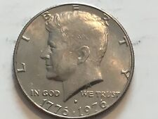 1976 D Kennedy Half Dollar grease and reverse doubling error.