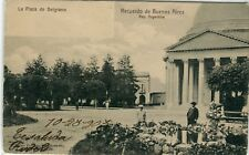 Argentina Buenos Aires - Plaza de Belgrano 1903 Cover from Roque Perez postcard