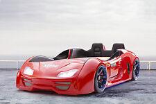 Autobett GT 999 Extreme rot, Kinderbett, Jugendbett, Autobett mit Türren