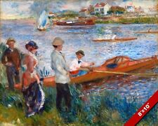OARSMEN BOATING IN CHATOU FRENCH PAINTING AUGUSTE RENOIR ART REAL CANVAS PRINT