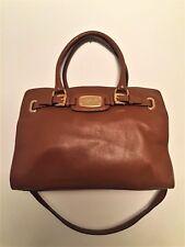 Michael Kors Tan Luggage Hamilton Pebbled Leather Satchel Purse Tote Bag Handbag