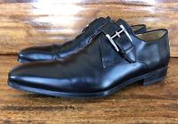 Mens Magnanni Monk Strap Dress Shoes Black Leather Size 8.5 D