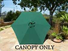 9ft Patio Umbrella Replacement Canopy 6 Ribs in Hunter Green (Canopy Only)